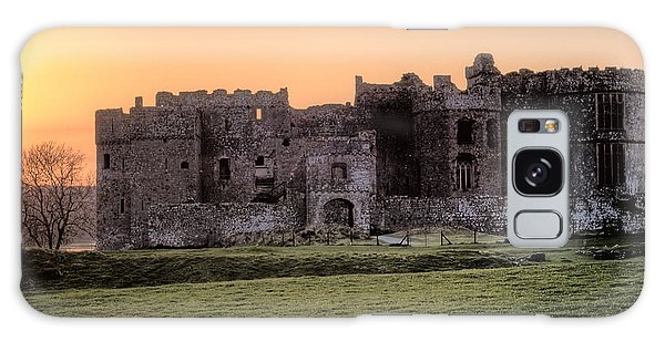 Carew Castle Coral Sunset Galaxy Case