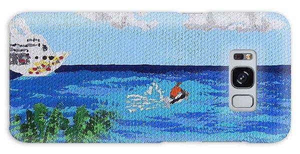 Caribbean Jet Ski Galaxy Case by Margaret Brooks
