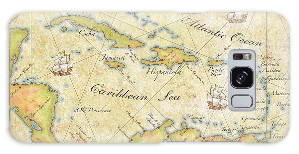 Caribbean Map - Good Galaxy Case