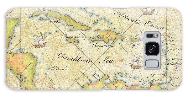 Caribbean Map II Galaxy Case