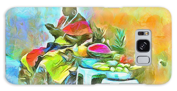 Caribbean Scenes - De Fruit Lady Galaxy Case by Wayne Pascall