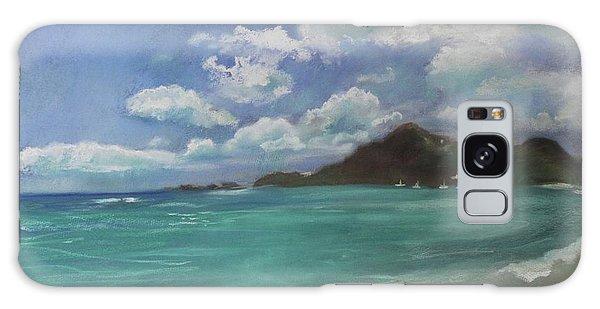 Galaxy Case featuring the pastel Caribbean Sea Day Antigua by Robin Maria Pedrero