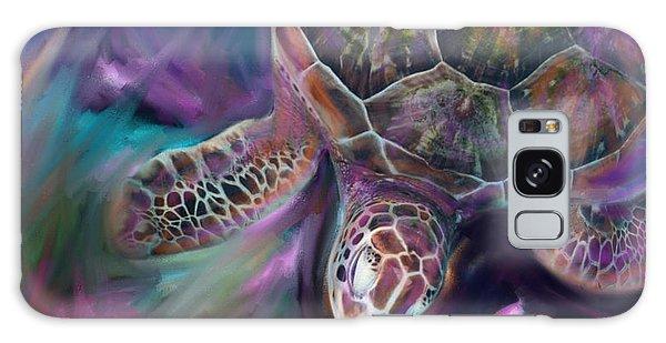 Caribbean Sea Turtle Galaxy Case by Julianne Ososke