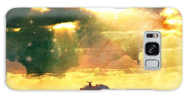 Caribbean Sunset Cloud Art Galaxy Case