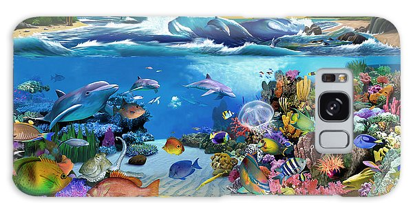 Reef Diving Galaxy Case - Caribbean Sunset by MGL Meiklejohn Graphics Licensing