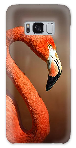 Bird Galaxy Case - Caribean Flamingo Portrait by Johan Swanepoel