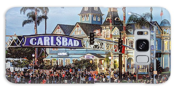 Carlsbad Village Sign Galaxy Case by Ann Patterson