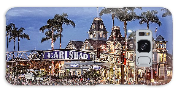 Carlsbad Village Sign Lighting Galaxy Case