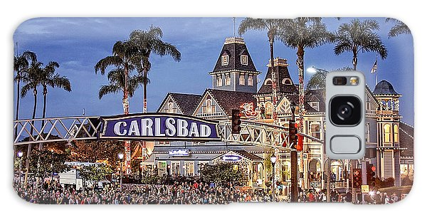 Carlsbad Village Sign Lighting Galaxy Case by Ann Patterson