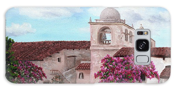 Monterey Galaxy Case - Carmel Mission In Spring by Laura Iverson