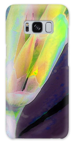 Galaxy Case featuring the photograph Carmellas Lily 1 by Kate Word