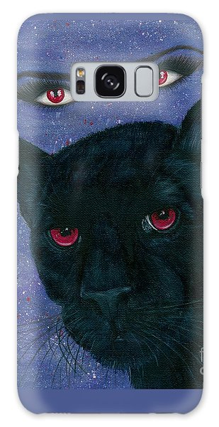 Galaxy Case featuring the painting Carmilla - Black Panther Vampire by Carrie Hawks
