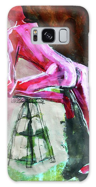 Galaxy Case featuring the painting Carmine Figure No. 3 by Nancy Merkle
