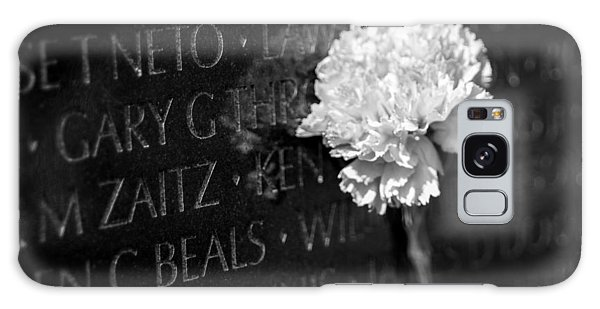 Galaxy Case featuring the photograph Carnation Along Wall by SR Green
