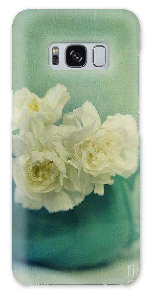 Still Life Galaxy Case - Carnations In A Jar by Priska Wettstein