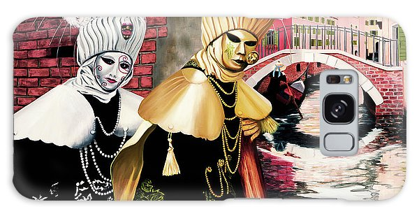 Carnevale Venezia - Prints From Original Oil Painting Galaxy Case
