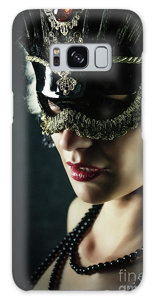 Galaxy Case featuring the photograph Carnival Mask Closeup Girl Portrait by Dimitar Hristov