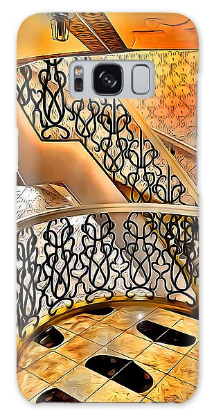 Bahamas Galaxy Case - Carnival Pride Stairs by Stephen Younts