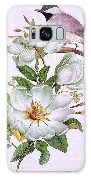 Carolina Chickadee And Magnolia Flower Galaxy Case