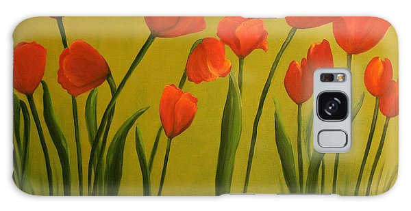 Carolina Tulips Galaxy Case by Carol Sweetwood