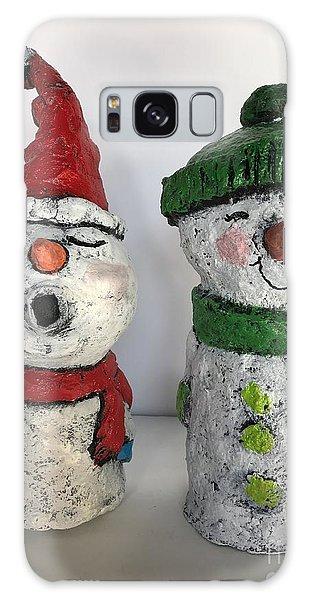 Caroling Snowmen Galaxy Case