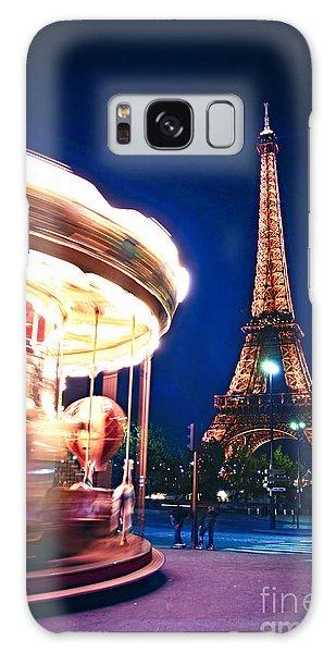 Travel Galaxy Case - Carousel And Eiffel Tower by Elena Elisseeva