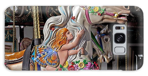 County Fair Galaxy Case - Carousel Horse And Angel by Garry Gay