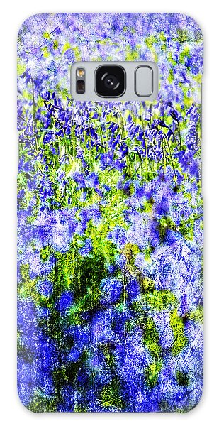 Bluebell Galaxy Case - Carpet Of Blue by Meirion Matthias