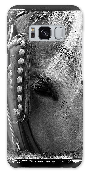 Carriage Horse B And W Galaxy Case