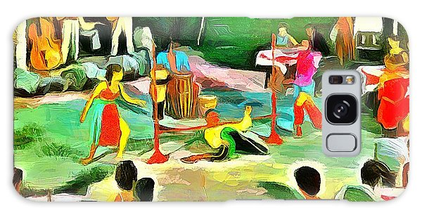 Carribean Scenes - Calypso And Limbo Galaxy Case by Wayne Pascall