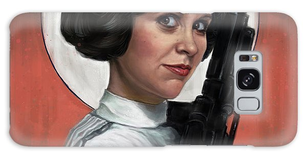 Tribute Galaxy Case - Carrie Fisher by Andre Koekemoer