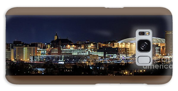 Carrier Dome And Syracuse Skyline Panoramic View Galaxy Case