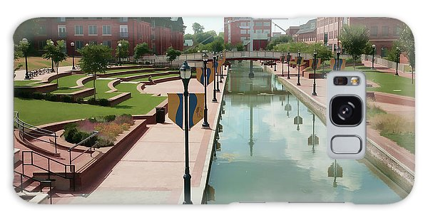 Carroll Creek Park In Frederick Maryland With Watercolor Effect Galaxy Case
