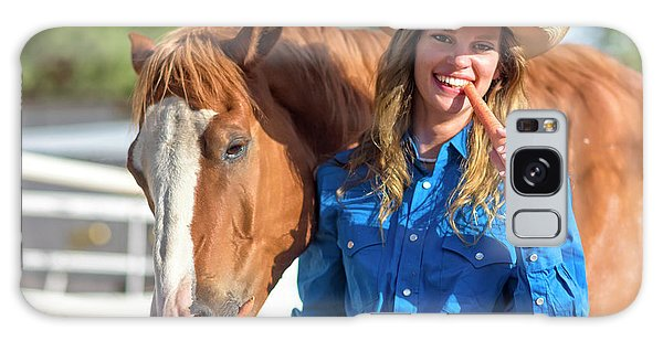 Carrots,cowgirls And Horses  Galaxy Case