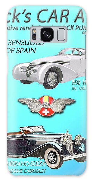 Galaxy Case - Cars Of Spain Magazine Cover by Jack Pumphrey