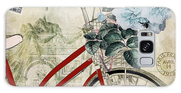 Bike Galaxy Case - Carte Postale Vintage Bicycle by Mindy Sommers