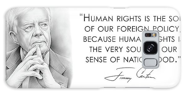 Human Rights Galaxy Case - Carter On Human Rights by Greg Joens