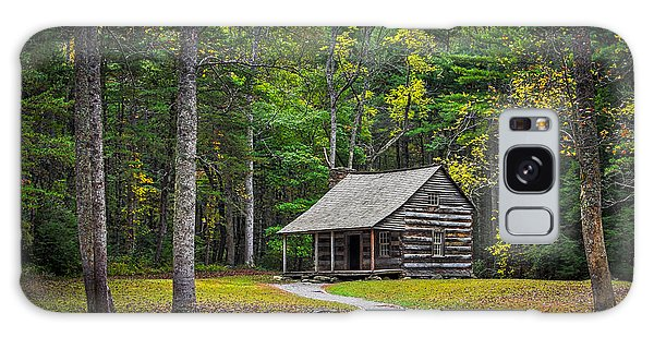 Carter Shields Cabin In Cades Cove Tn Great Smoky Mountains Landscape Galaxy Case