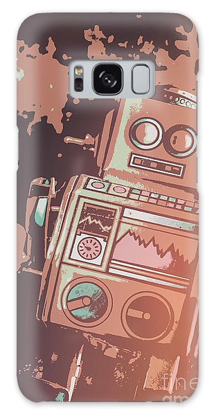 1950s Galaxy Case - Cartoon Cyborg Robot by Jorgo Photography - Wall Art Gallery