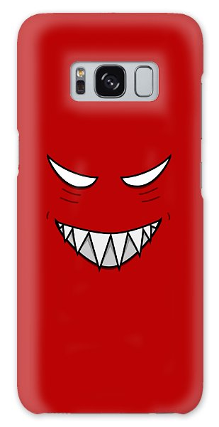 Cartoon Grinning Face With Evil Eyes Galaxy Case