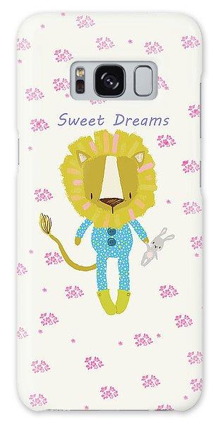 Cartoon Sweet Dreams Lion Galaxy Case