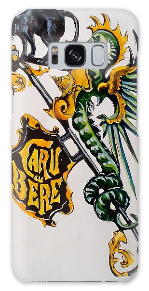 Caru Cu Bere - Antique Shop Sign Galaxy Case by Dora Hathazi Mendes