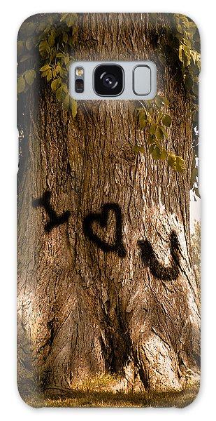 Carve I Love You In That Big White Oak Galaxy Case