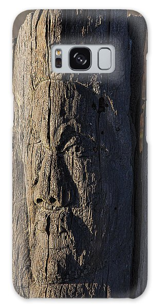 Fence Post Galaxy Case - Carved Fence Post by Garry Gay