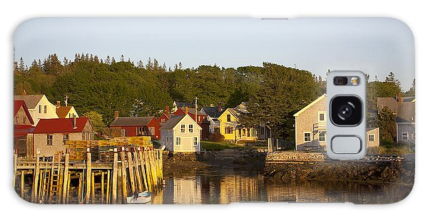 Carvers Harbor At Sunset, Vinahaven, Maine Galaxy Case