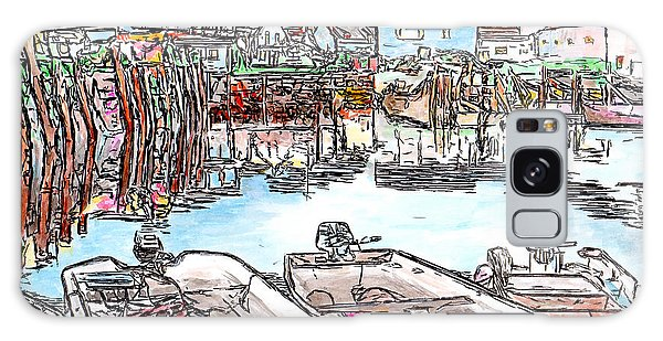 Carvers Harbour With Boats , Vinal Haven,  Maine Galaxy Case