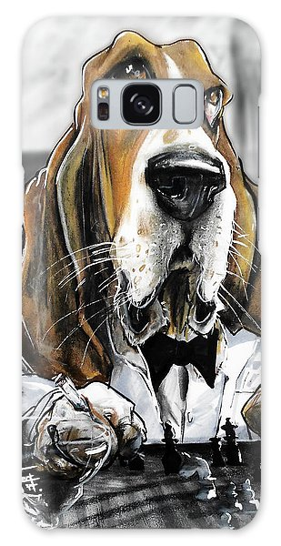 Casablanca Basset Hound Caricature Art Print Galaxy Case