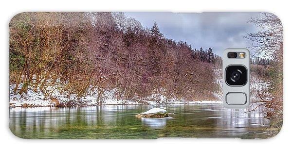 Cascade River Rocks Galaxy Case by Spencer McDonald