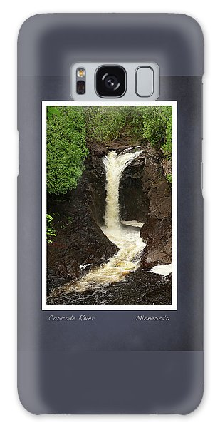 Galaxy Case featuring the photograph Cascade River Scrapbook Page by Heidi Hermes