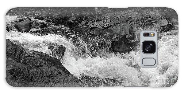 Cascade Stream Gorge, Rangeley, Maine  -70756-70771-pano-bw Galaxy Case by John Bald